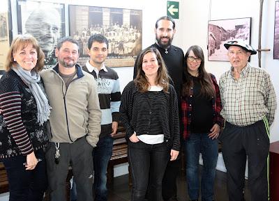 Foto de grupo en el Museo de la Minería del País Vasco
