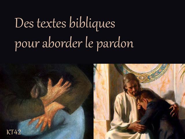 Des textes bibliques pour aborder le pardon au caté