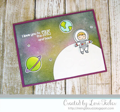 I Love You to the Stars and Back card-designed by Lori Tecler/Inking Aloud-stamps and dies from Lawn Fawn