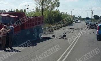Τροχαίο με δύο νεκρούς στην εθνική οδό Πατρών - Πύργου  Σωματικά μέλη  σκορπίστηκαν στην άσφαλτο 519d0ffeda8