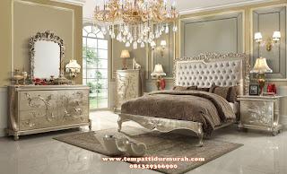 tempat tidur mewah ukir minimalis