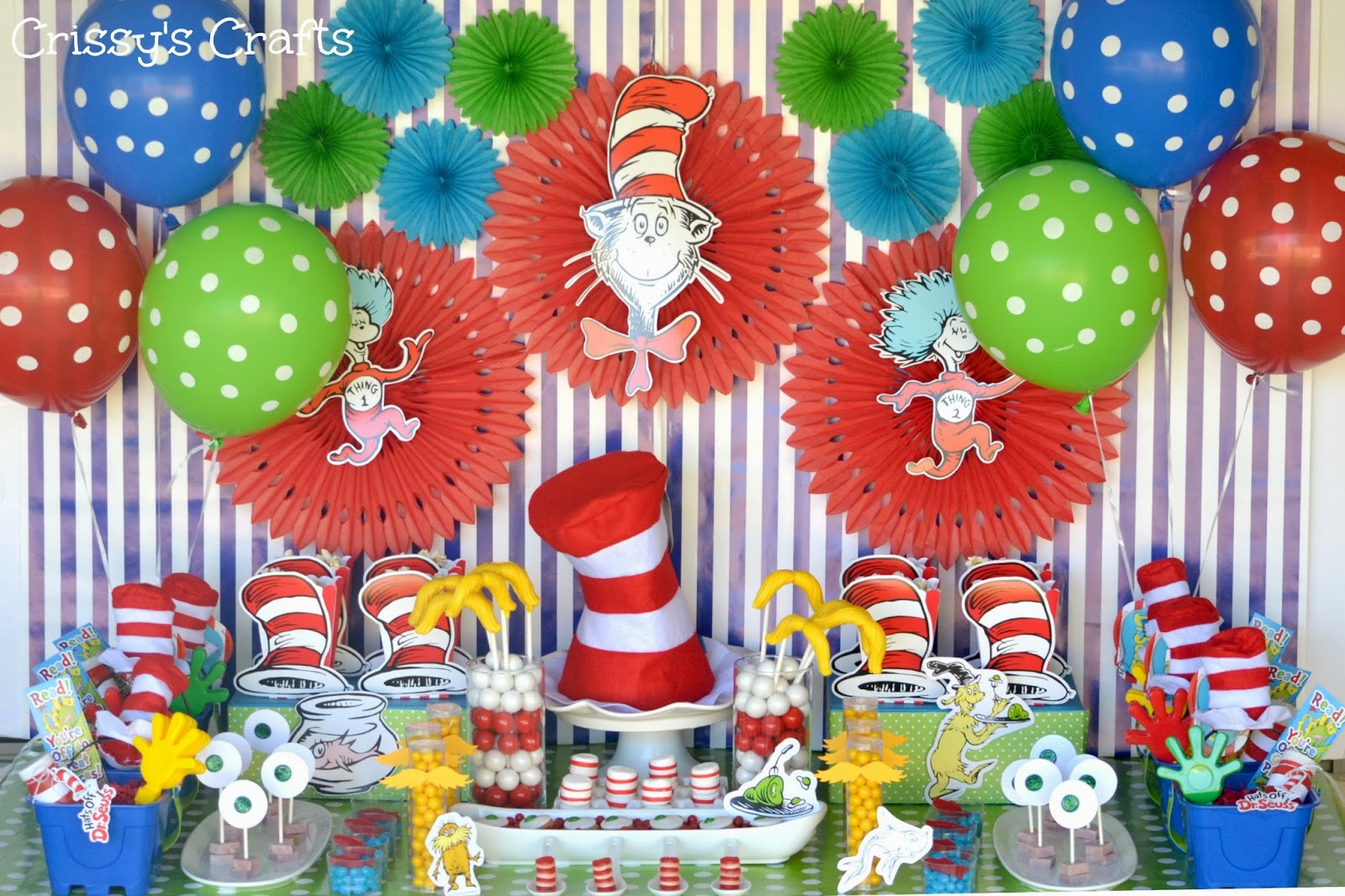 Crissy S Crafts Dr Seuss Party Ideas And Snacks