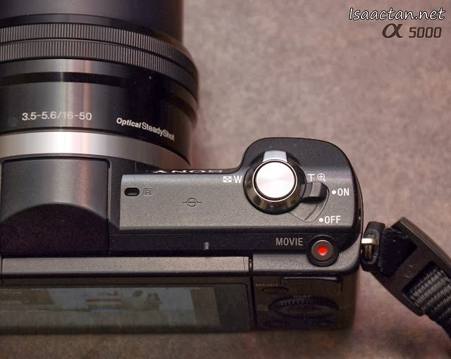 The ON/OFF switch still takes the form of a ring around the shutter-release