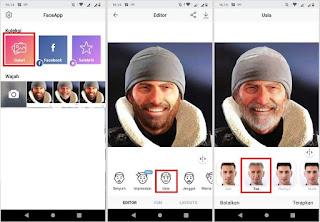 Viral! Cara Edit Wajah Menjadi Tua di Android