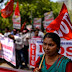 Tens of millions angry workers in India protest low wages, pensions and government economic reforms