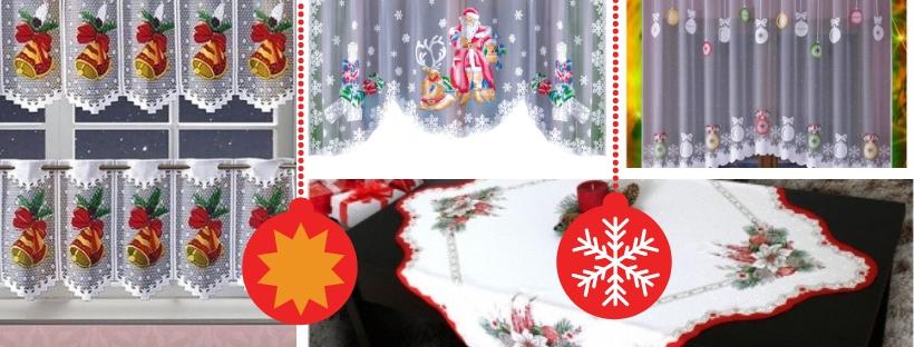 Dekoracje Dla Domu Firanki Z Mikołajem Czas Na Boże Narodzenie
