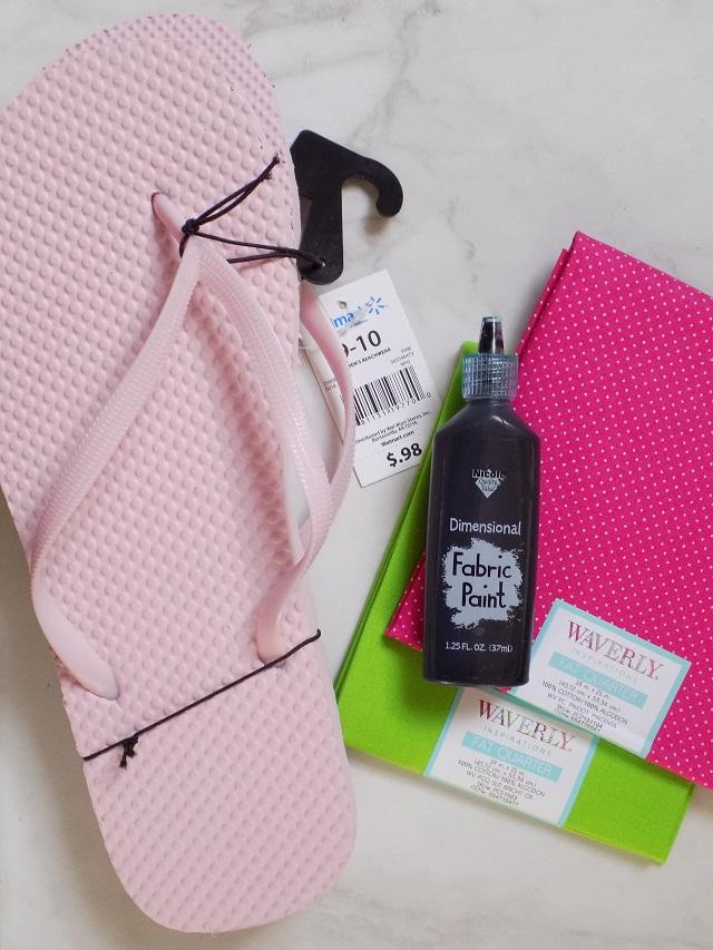 b9de4d41879f4 DIY No-Sew Watermelon Flip Flops