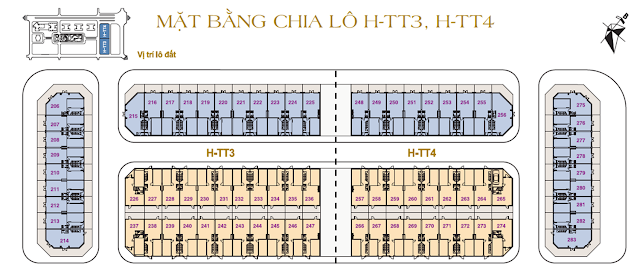 Mặt bằng thiết kế khu H - TT3 & H - TT4