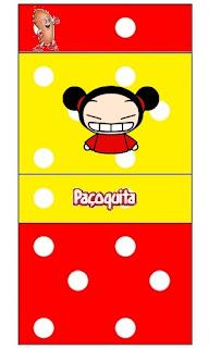 Etiquetas de Pucca para imprimir gratis.