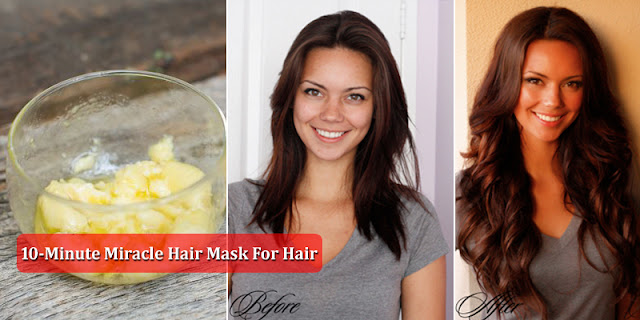 10-Minute Miracle Hair Mask For Dry, Damaged, Rough And Frizzy Hair