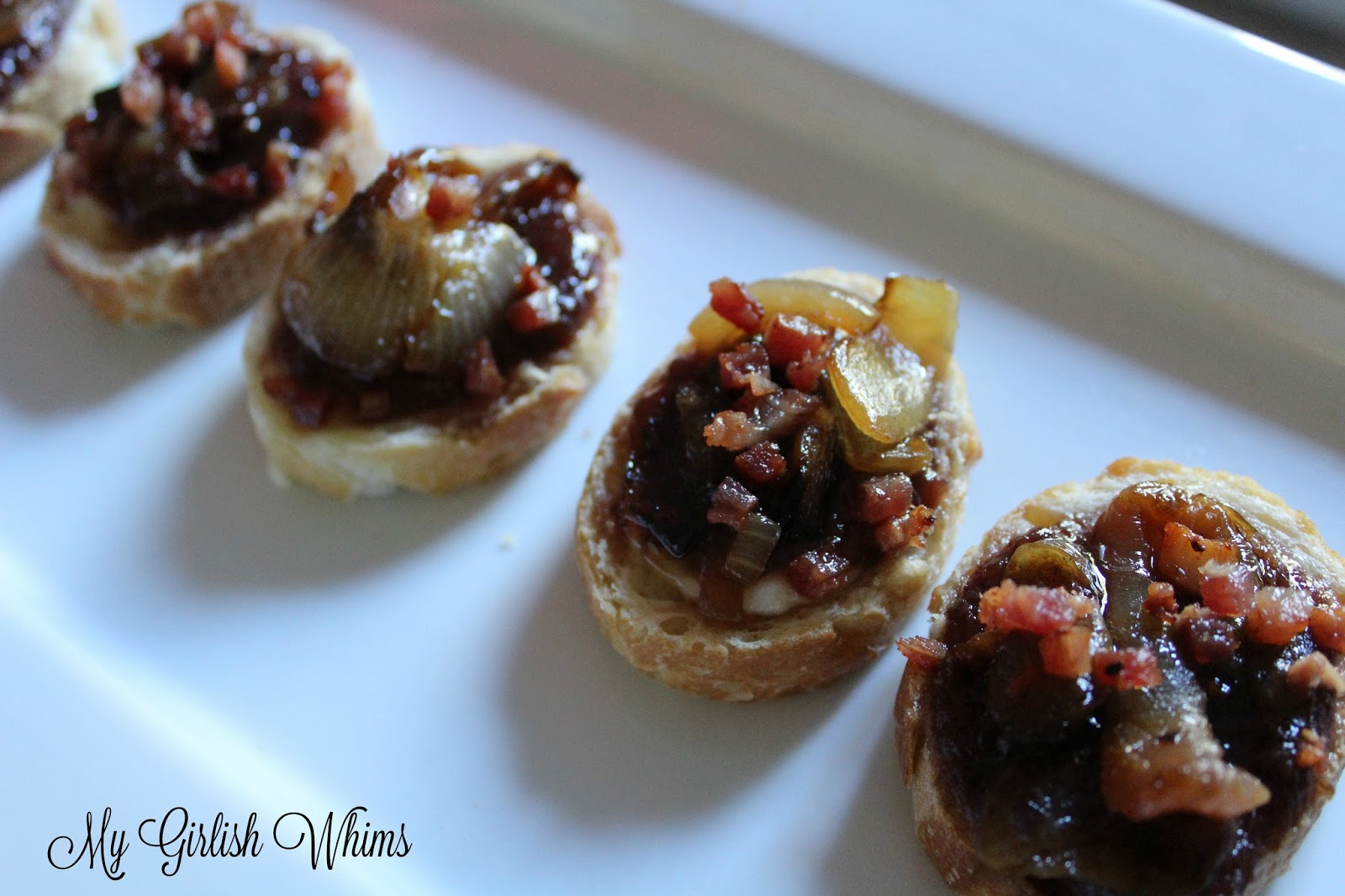 Melted Brie, Caramelized Onion, Pancetta and Jam Crostinis - My ...