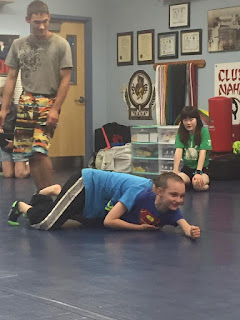 Wrestling during summer camp