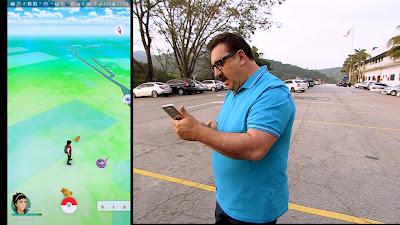 Ratinho caça Pokémons no estacionamento do SBT (Divulgação/SBT)