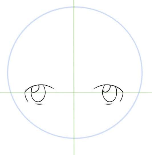 dessiner les reflet des yeux