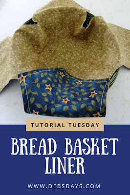 Fabric Bread Basket Liner Sewing Project