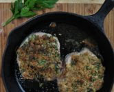 Thick Chops with Mustard Crust