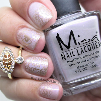Polish & Potions: Chinese New Year's lavender and gold nails.