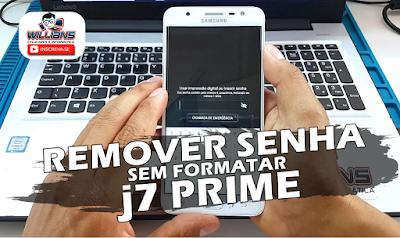 Como Remover Senha de Celular SEM APAGAR ARQUIVOS Samsung J7 Prime G610M