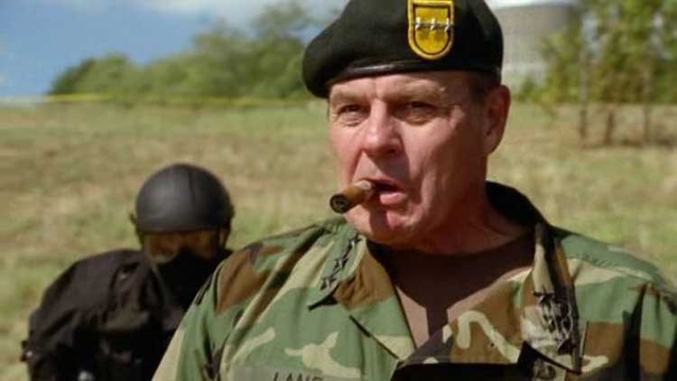 Michael Ironside often played military characters.