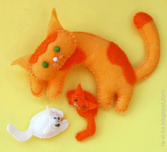 котята из фетра felt cats