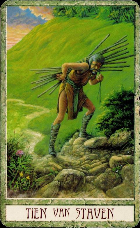 Resultado de imagem para 10 of wands tarot
