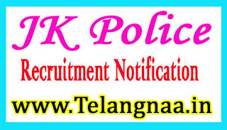 Jammu / Kashmir Police Recruitment Notification 2017