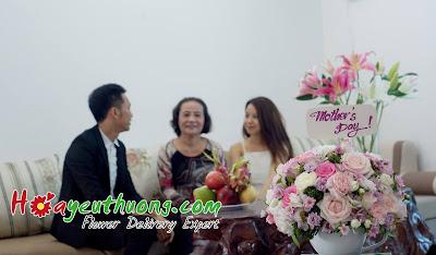 Một giỏ hoa của shop Hoa Yêu Thương cho ngày của mẹ