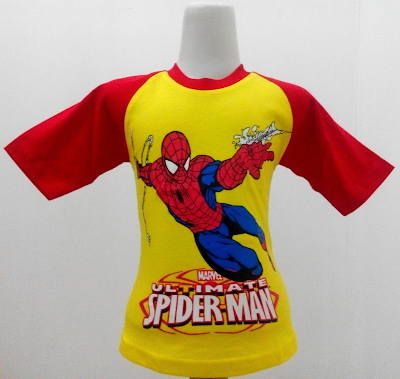Kaos Raglan Anak Karakter Spiderman 4 Ultimate Kuning