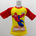 Spiderman 4 - Kaos Raglan Anak Karakter Spiderman 4 Ultimate Kuning (KAK-SPD-04)