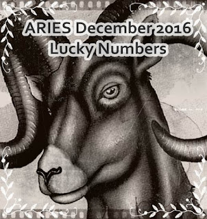 ARIES December 2016 Lucky Numbers Forecast