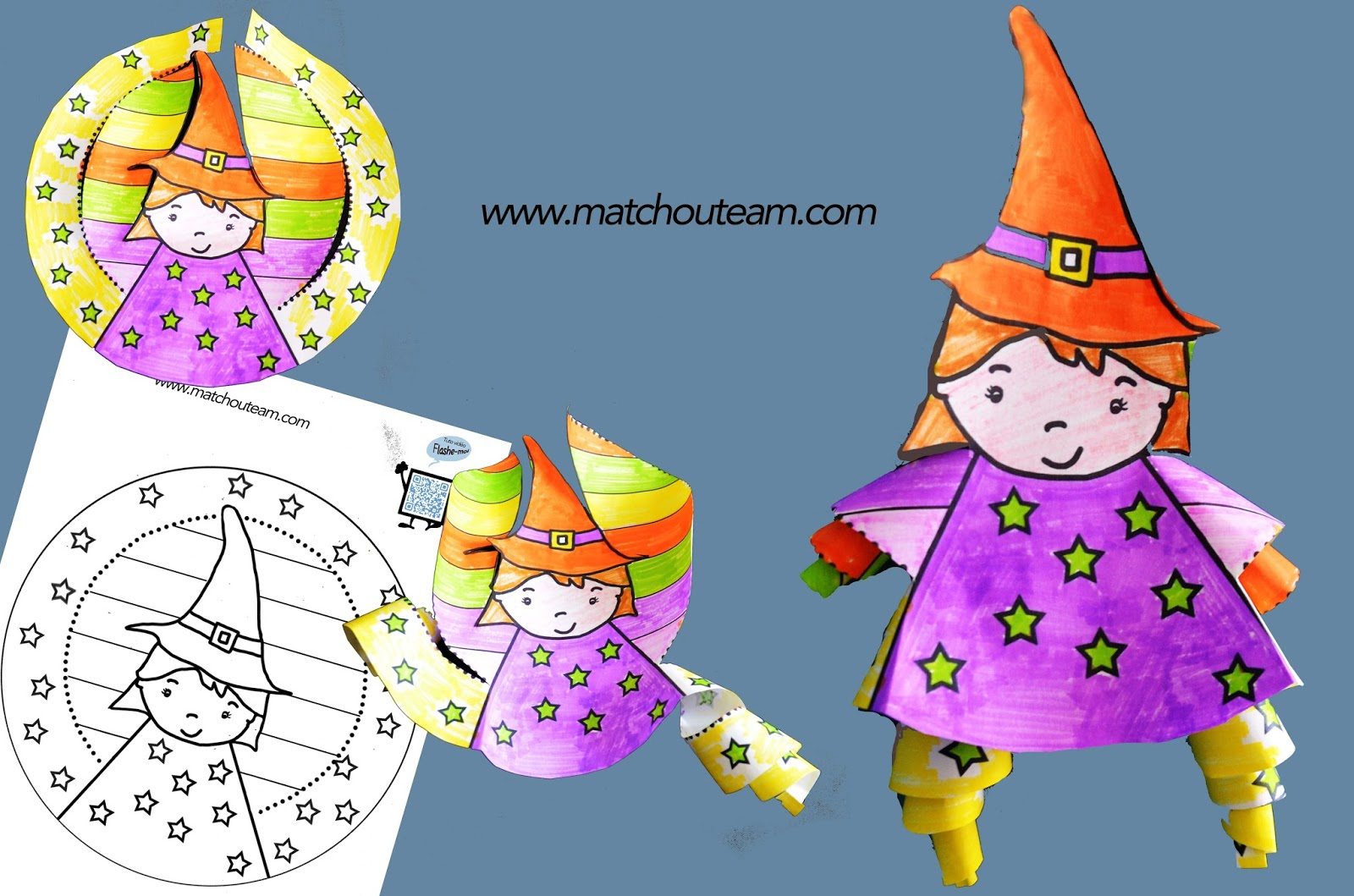 Ma tchou team coloriage sorci re en 3d - Coloriage sorciere ...