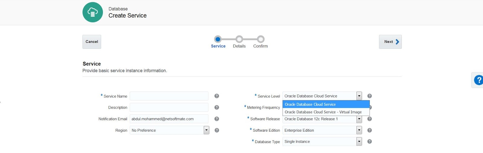 Netsoftmate Technical Blog : Oracle Database Cloud Services (DBCS