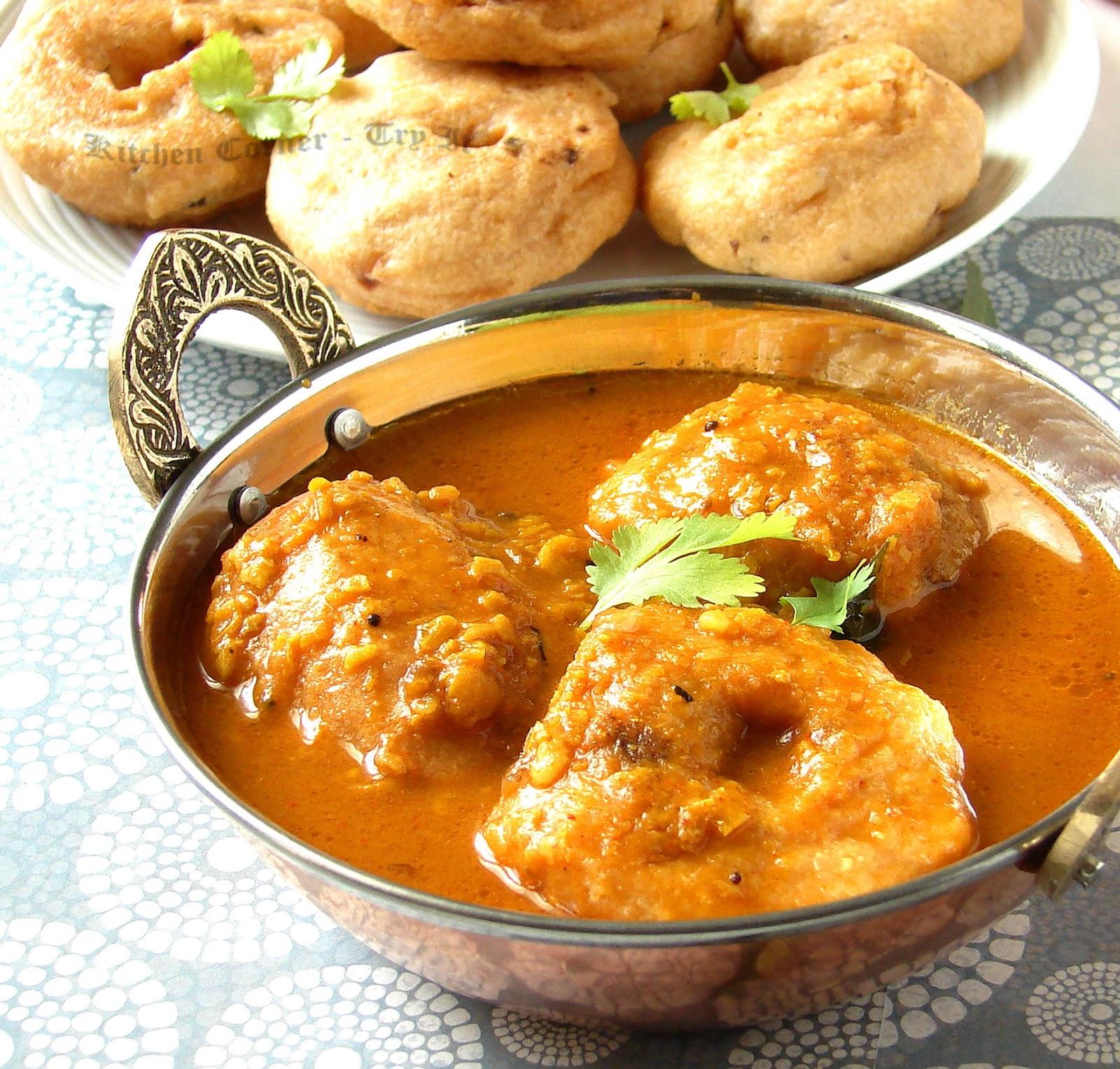 Sambar vada recipe how to make sambar vadai or vada sambar