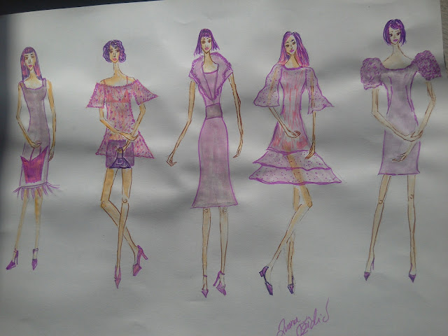 Ultra Violet Mini Spring Collection - #FashionIllustrations of the Day