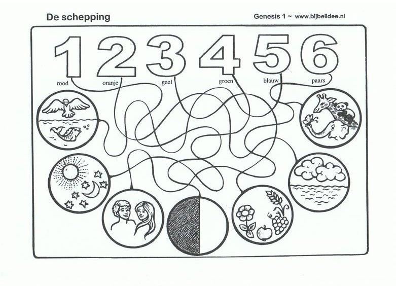 Laberinto De La Creacion Para Ninos Dibujos Para Colorear
