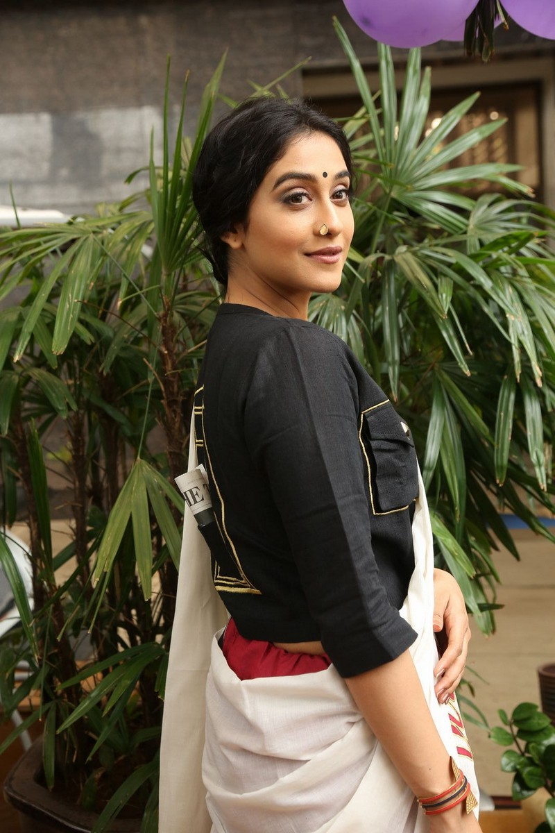 Regina Cassandra Spicy Stills In White Saree