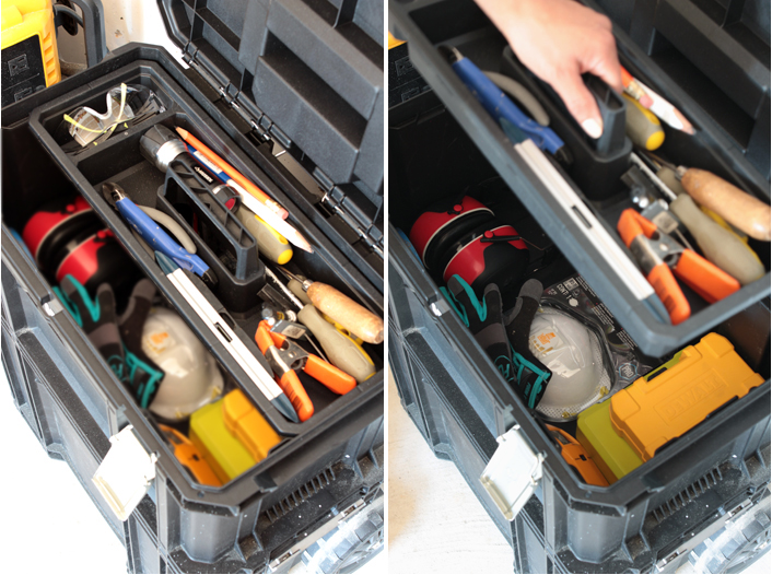 how to keep tools organized.