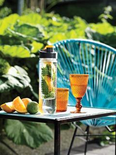 Sticla Orange cu infuzor cumpara aici