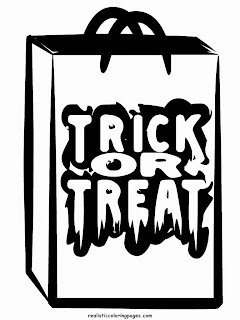 trick or treat bags happy halloween coloring sheet