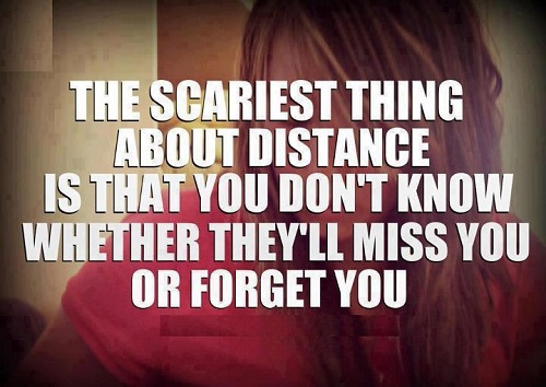 Whatsapp status quotes 2016 the scariest thing about distance is that you do not know
