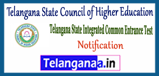 TS ICET Telangana State Council of Higher Education 2018 Notification Application