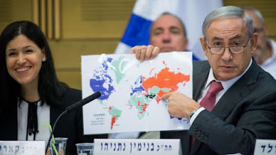 Esta semana el primer ministro preparó un mapa para mostrar cómo ve Israel entre las naciones. Se muestra una fascinante y sorprendente imagen optimista.