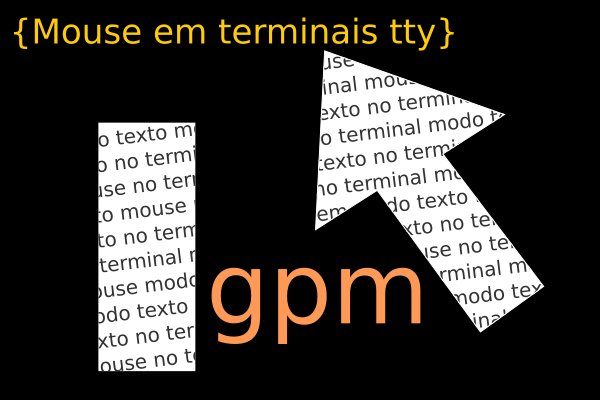 mouse modo texto no terminal do linux ubuntu