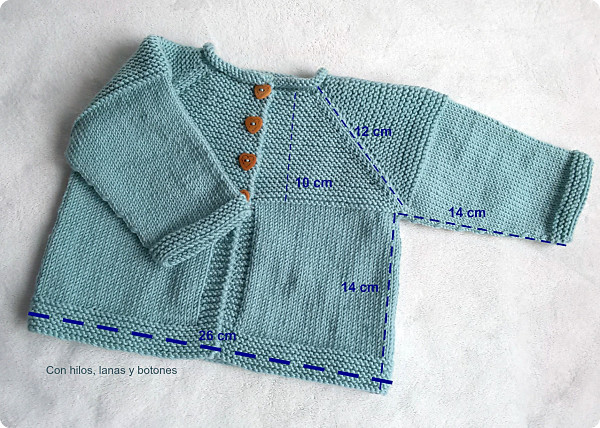 Con hilos, lanas y botones: DIY cómo hacer una chaqueta de punto para bebé paso a paso (patrón gratis)