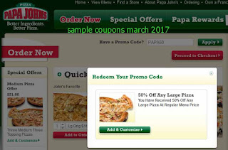 Papa Joes Pizza coupons for march 2017