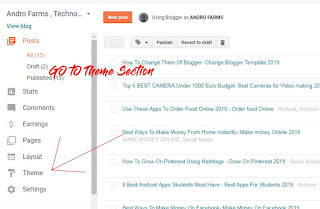 How To Change Them Of Blogger- Change Blogger Template 2019