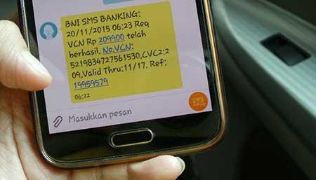 Biaya Pulsa Telkomsel XL Indosat Smartfren SMS Banking BNI