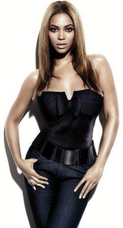 Foto de Beyonce con cabello lacio