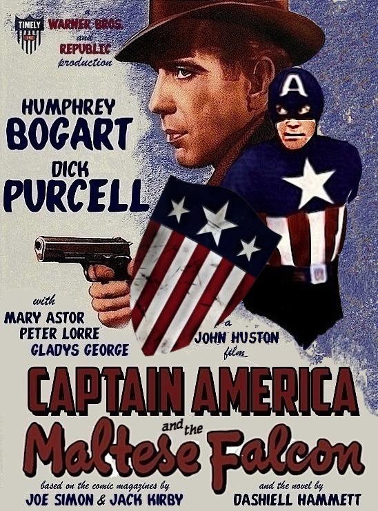 poster for 'Captain America and the Maltese Falcon'
