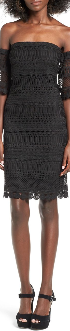 Leith Lace Off the Shoulder Sheath Dress